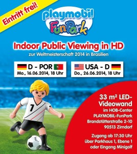 Playmobil FunPark Public Viewing 2014