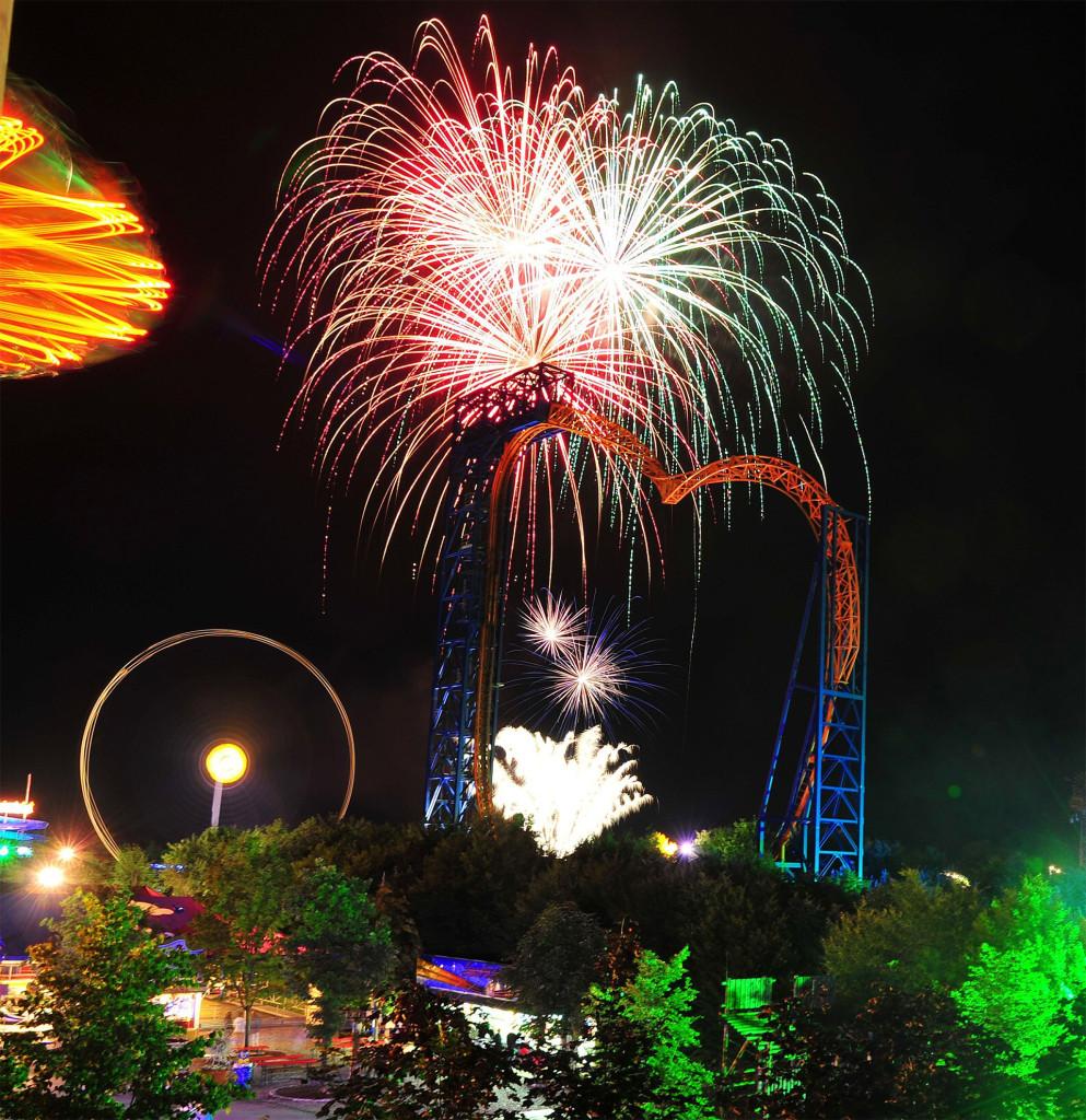 Skyline Park bei Nacht