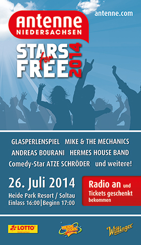 Stars for Free 2014 Flyer