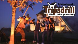 Tripsdrill baut mit Trailer Spannung für Schaurige Altweibernächte 2014 auf