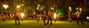 Fackelwerfer beim Europa-Park Sommernachtsfest