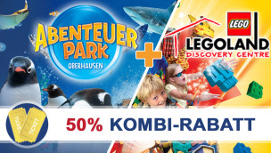 Legoland und Abenteuer Park 2014 – Oberhausen Kombi-Ticket nur 14 Euro mit 50% Rabatt
