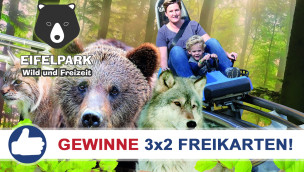Eifelpark Gondorf: Freikarten-Freitag #14 – Gewinne 3×2 Eintrittskarten!