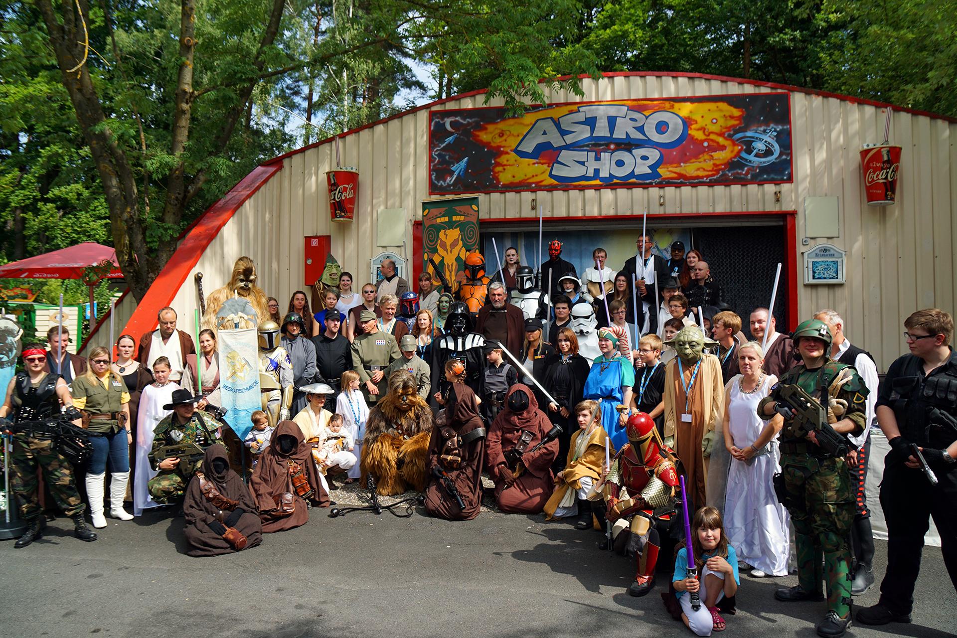 Gruppenfoto - Science Fiction Tag 2014 im Freizeitland Geiselwind