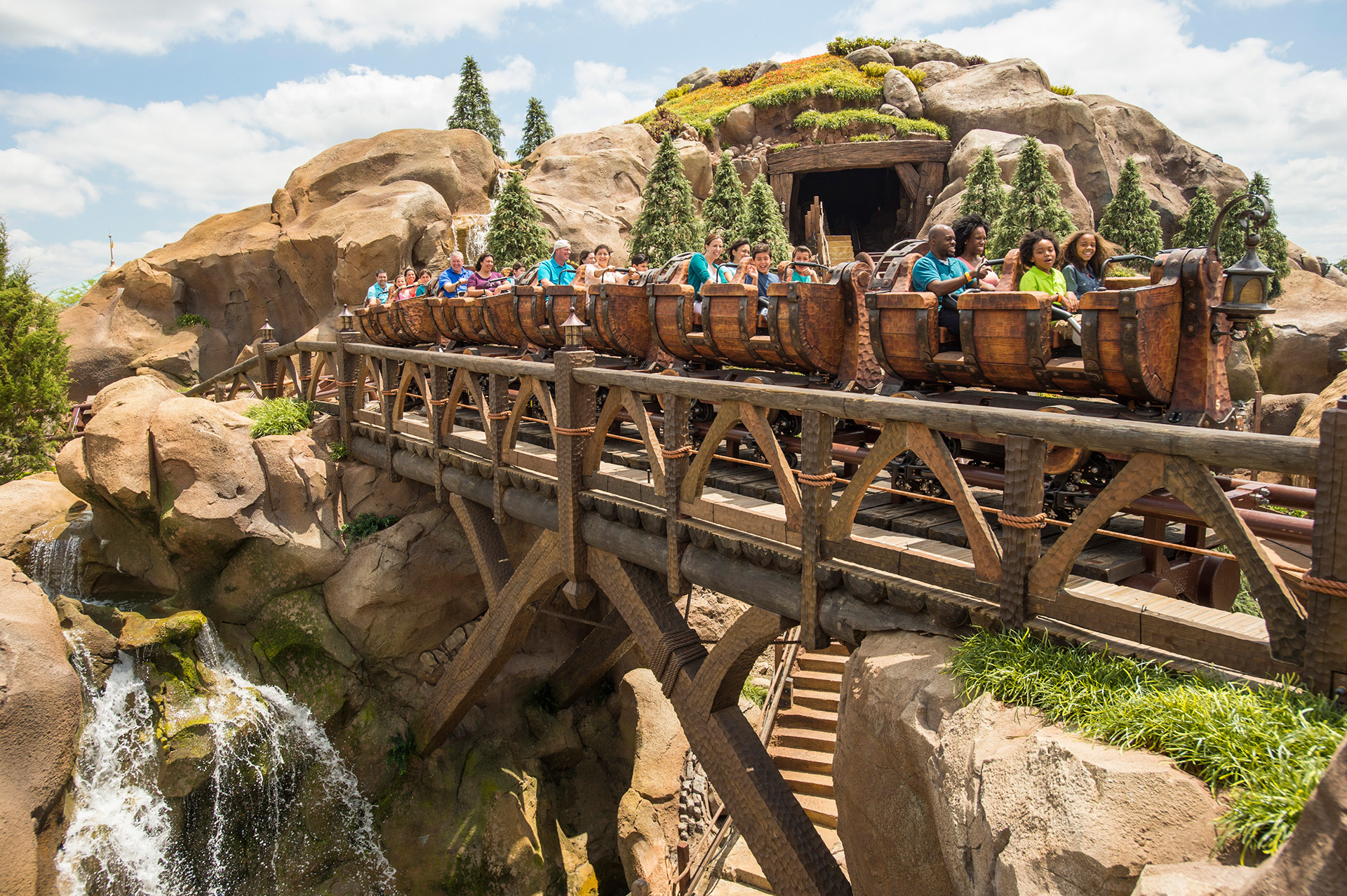 Seven Dwarfs Mine Train in Disney World Florida