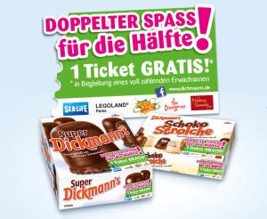 Super Dickmann's Freizeitpark-Gutscheine 2015
