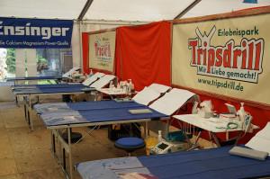 Tripsdrill Blutspende-Aktion 2014 - Zelt innen