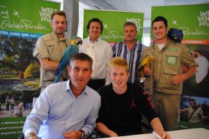 Weltvogelpark Botschafter Kevin De Bruyne
