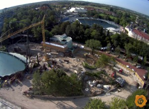 Gardaland Dive Coaster Baustele Webcam-Ansicht