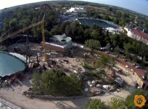 Gardaland Dive Coaster Baustele Webcam-Ansicht