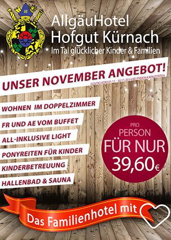 Allgäu Hotel Hoftgut Kürnach November 2014