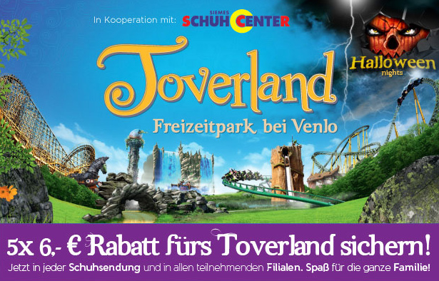 toverland gutscheine 2014 bei siemes schuhcenter 30 euro. Black Bedroom Furniture Sets. Home Design Ideas