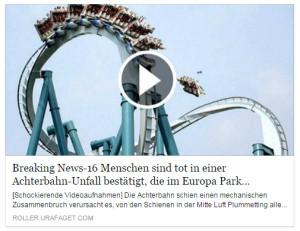 Europa-Park Achterbahn-Unfall Fake