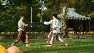 Schwertkampf beim Mittelaltermarkt im Europa-Park