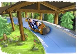 Toverland Bobbahn Theming 1