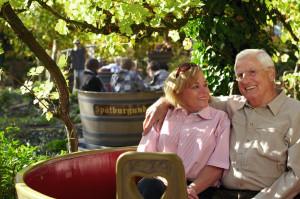 Weinkübel-Fahrt im Erlebnispark Tripsdrill