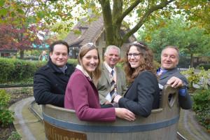 Weinkübelfahrt mit Minister Bonde im Erlebnispark Tripsdrill