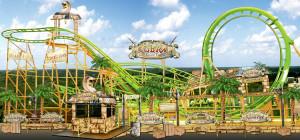 Looping-Achterbahn Cobra im Freizeitland Geiselwind