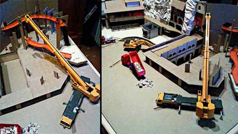 Chiapas Modell Baustelle