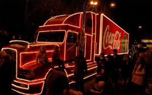 Coca Cola Weihnachtstruck im Europa-Park