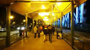 Europa-Park Rolltreppe zum Parkplatz