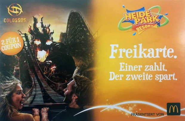 Heide Park 2-für-1-Coupon 2019 McDonald's