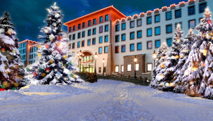 Heide Park Hotel Port Royal im Winter