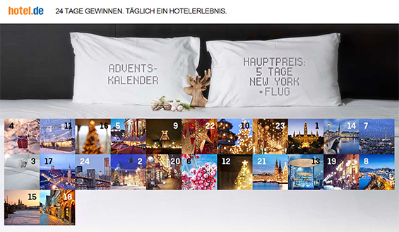 adventskalender 2014 t glich hotelerlebnis gewinnen. Black Bedroom Furniture Sets. Home Design Ideas