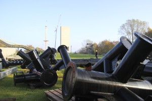 Kärnan Baustelle im Hansa-Park - Stützen