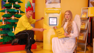 LEGO Weihnachtsbriefkasten 2014 in Oberhausen