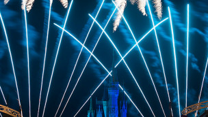 Silvester-Feuerwerk in Disneys Magical Kingdom Florida
