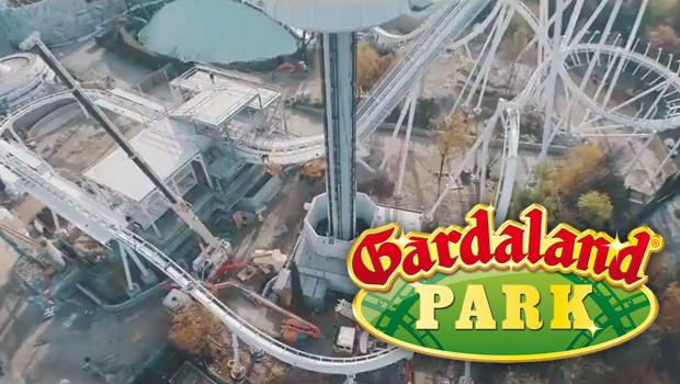 Gardaland Dive Coaster 2015 Schienenschluss