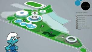 Schlümpfe Freizeitpark in Spanien - Konzept