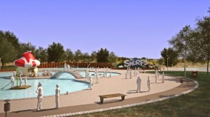 Schlümpfe Freizeitpark Wasserspielbereich