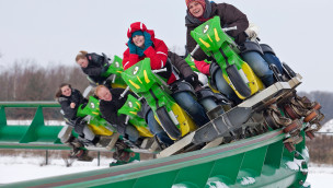 Boosterbike im Toverland im Winter