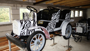Afrika-Fotosafari Wagen im Rasti-Land