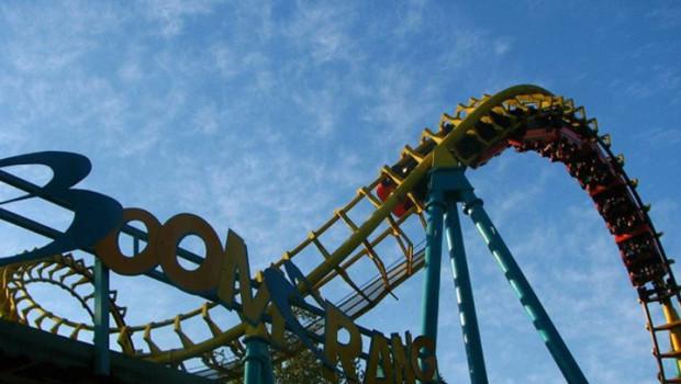 Boomerang Achterbahn in Fantasialandia