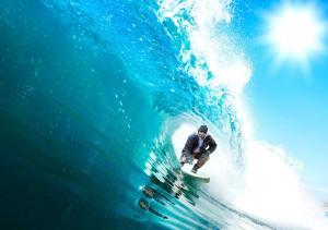 Europa-Prak Fotomontage - Surfer