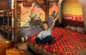 Westernzimmer im Heide Park Abenteuerhotel