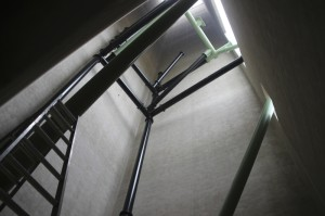 Kärnan Baustelle - Abfahrtsturm von Innen