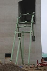 Kärnan Baustelle - Ausfahrt im Detail