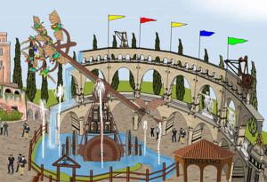 Leonardos Flugmaschine - Artwork aus Familypark Neusiedlersee