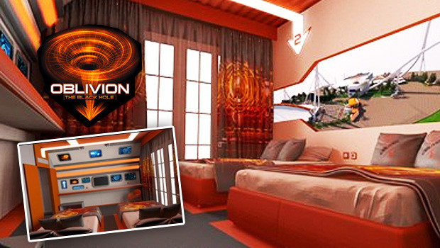 Oblivion - The Blach Hole Hotel Room in Gardaland