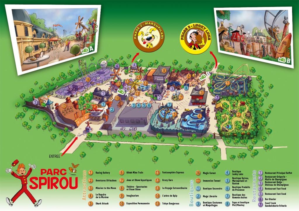 Parc Spirou Parkplan