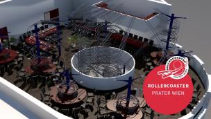 Achterbahn-Restaurant im Wiener Prater eröffnet im Mai 2015