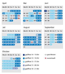 Belantis Öffnungszeiten 2015