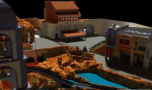 Chiapas - virtuelles Modell aus Phantasialand