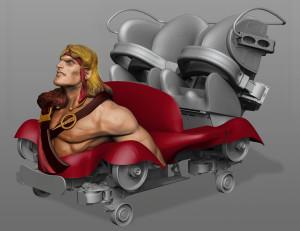 Cu Chulainn Coaster Wagen Modell