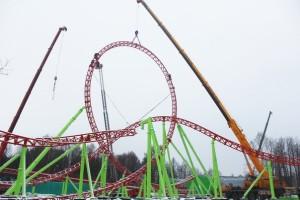 Divo Ostrov - Mack Launch Coaster - Baustelle Looping