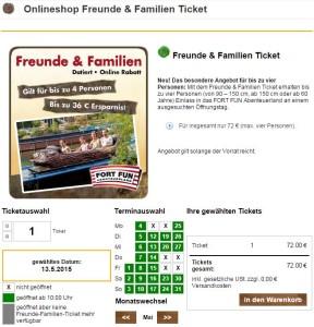 Familientickets - Fort Fun Abenteuerland 2015